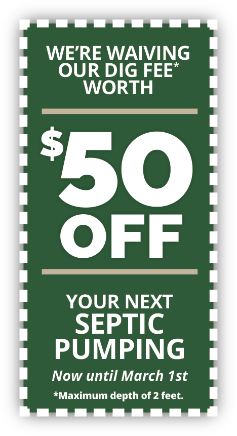 $50 off septic dig out - Middlesex VT